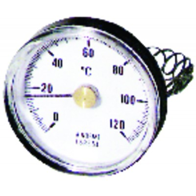 Thermomètre d'applique 0 à 120°C PVC