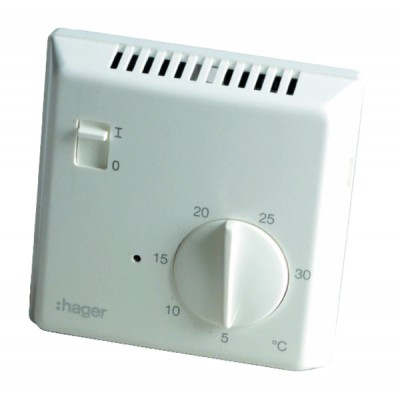 Thermostat simple électronique 25513 - HAGER : 25513