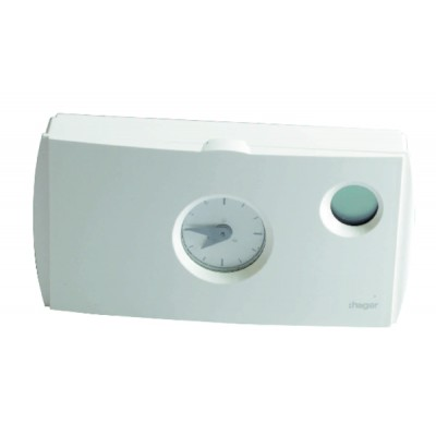 Thermostat ambiance programmable à piles LR6 - HAGER : 56511