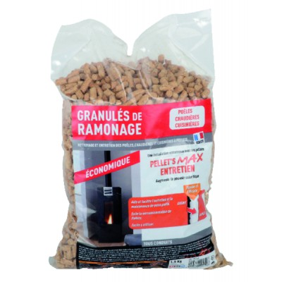 Ramonage chimique à pellets