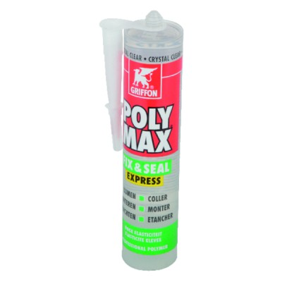 POLY MAX® FIX&SEAL EXPRESS - Cartouche 300g crystal - GRIFFON : 6150452