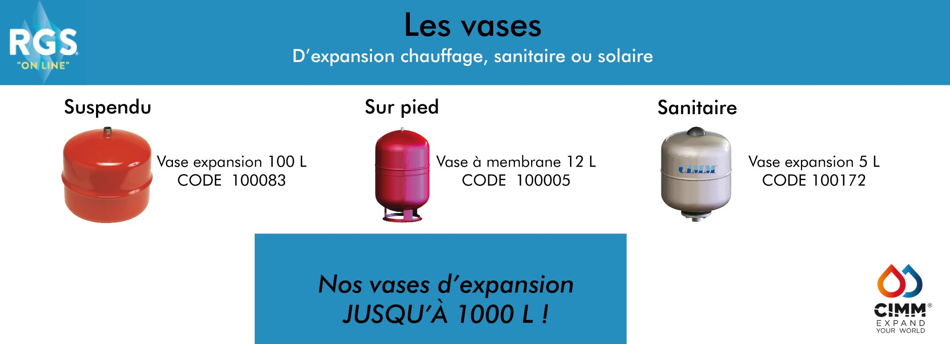 Vases d'expansion